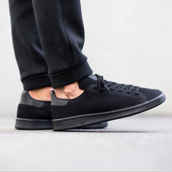 en soldes 01e13 ebc61 Adidas Original Stan Smith Primeknit Triple Black Boutique